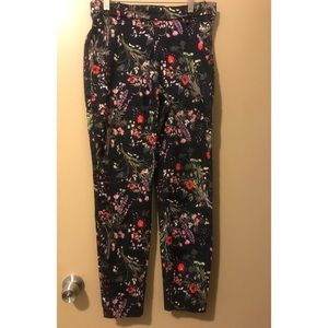 H&M Straight Leg Floral Trousers